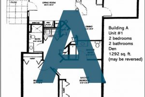 Spokane Valley Retirement Community Floor Plan Building A Unit 1