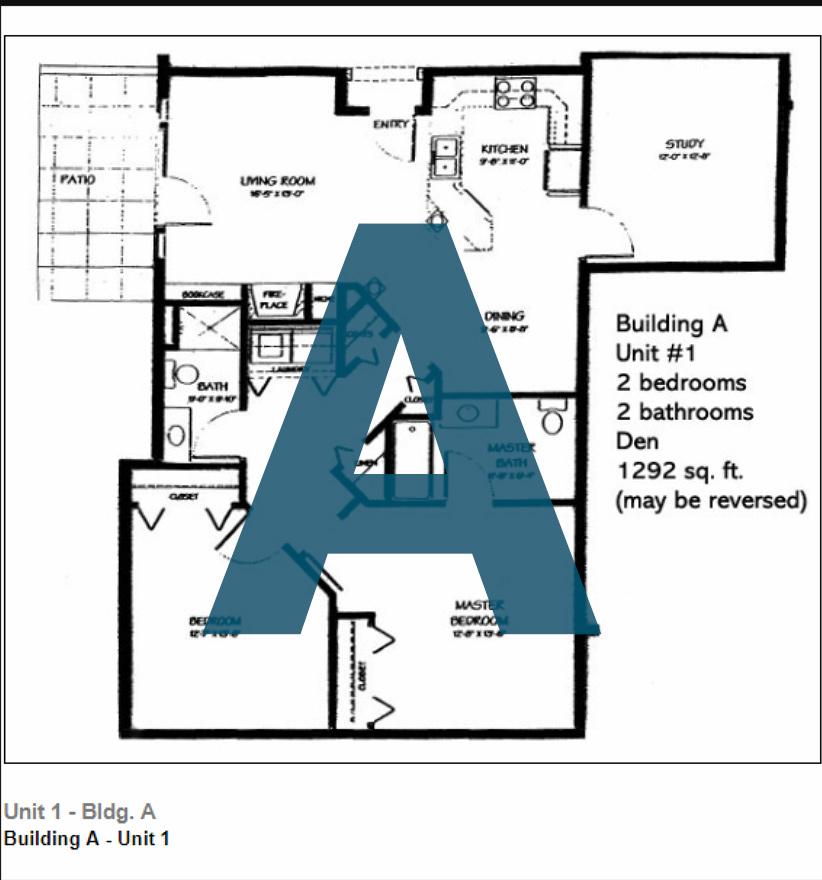 Spokane Valley Retirement Community Floor Plan Building A Unit 1