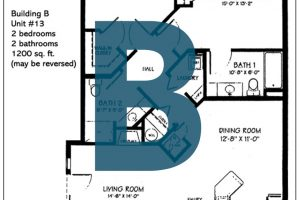 Spokane Valley Retirement Community Floor Plan Building B Unit 13