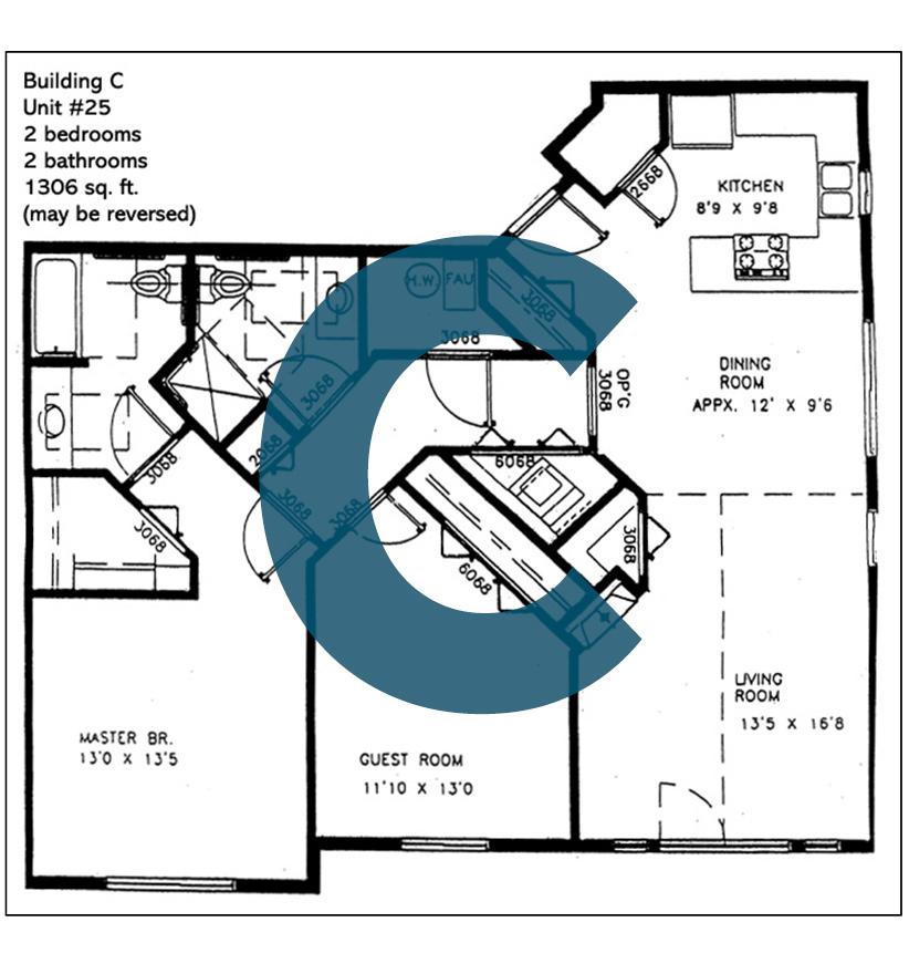 Spokane Valley Retirement Community Floor Plan Building C Unit 25