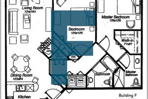 Spokane Valley Retirement Community Floor Plan Building F Unit 55