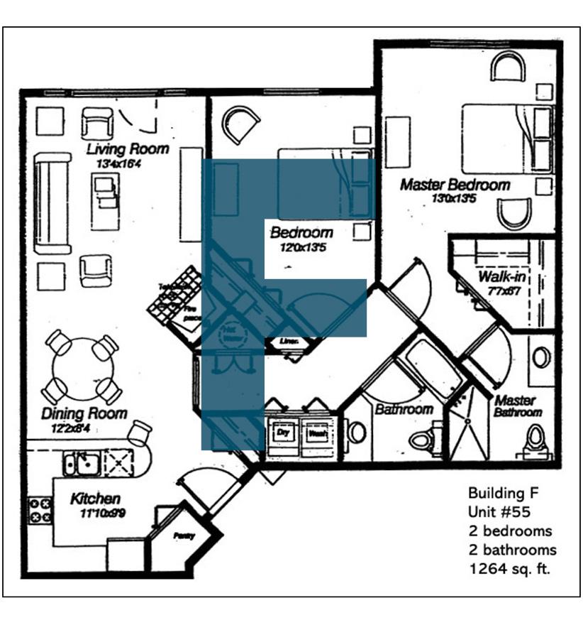 Spokane Valley Retirement Community Floor Plan Building F Unit 55